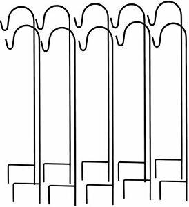 8er Robuster Metall Gartenstab, Laternenstab Hochzeit Dekoration , Schäferstock