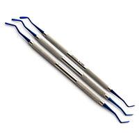 Dental Flat Plastic Composite Filling Instruments 2mm, 2.5mm, 3mm Blue Color Tip
