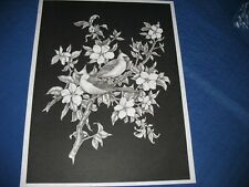 * Tri Chem 7319 Cardinals And Dogwood Tree Picture Trichem