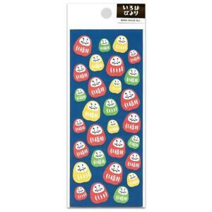 CUTE DARUMA STICKERS Classic Japanese Icon Paper Sticker Sheet Bodhidharma Doll