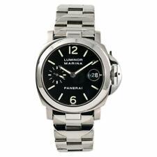 Panerai Luminor Marina PAM00050 Mens Automatic Watch Stainless Black Dial 40mm