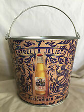 "7-1/2"" Collectible Estrella Jalisco Metal Ice Bucket Brand New Made In Mexico"