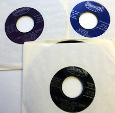 the COOKIES / LITTLE EVA lot of 3x45 rpm Girl Group on DIMENSION label   Dm816