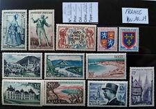 TIMBRES de FRANCE Neufs** n° 956 à 982 .. Année1954  Nov 10-19