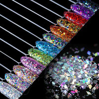 Nail Flakes Glitter Sequins Paillette Rhombus 3D Decoration  Colorful
