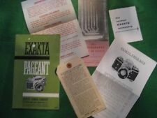 Exakta Pageant Catalog, Price List, Camera Tag, Plus More Original Vintage