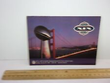 1985 Superbowl XIX San Francisco 49ers vs Miami Dolphins postcard VINTAGE