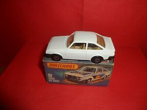 VHTF Matchbox Sup/fast #9-Escort RS2000 In Plain White,Nr Mint In Orig Box,1979.