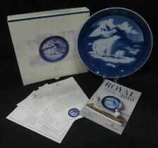 2010 Christmas In Greenland Polar Bears Royal Copenhagen Plate - Rare - In Box!