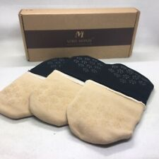 Vero Monte Womens Premium Cotton Mule/Clog Toe Topper No Show Half Liner 6 PR