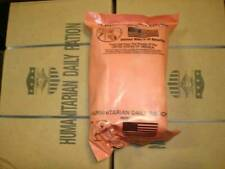 1 Case 10 Humanitarian Daily Rations MRE HDR Prepper Camp Hunting Survival flag