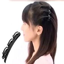 Fashion Double Hair Pin Clips MG Barrette Comb US Hairpin Disk Women Girls EF