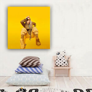 "Billie Eilish Poster Music Artist Art Print Size 12x12"""