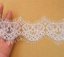 Ivoire mariage parage bridal chantilly cils bordure en dentelle 5cm*300cm/pièce