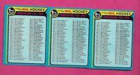 3 X 1979-80 TOPPS # 237  UNMARKED CHECKLIST NRMT-MT CARD (INV# C3508)