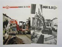 Prospekt O&K MH 2.5 Kompaktbagger Technische Daten 1987