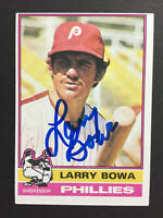 Larry Bowa Phillies Signed 1976 Topps Baseball Card #145 Auto Autograph