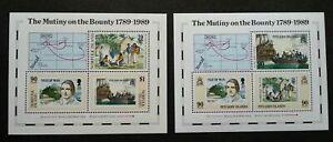 [SJ] Pitcairn Islands Norfolk Joint Issue Bicentenary Mutiny Bounty 1989 (ms MNH