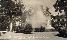 RPPC,Ponce,Puerto Rico,Fuente de la Plaza,Rodriquez Serra Photo,#14,c.1945-50s