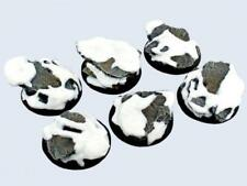 Micro Art Mini Base Shale 40mm Winter Shale - Warmachine Round Bases Pack Mint
