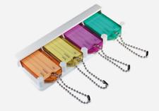 Hillman KEY HOLDER Assorted Colors Plastic/Metal Labeling ID Organize 701277 NEW
