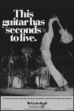 24X32 Inch The Who This Guitar Has Seconds To Live Music Poster Art E015