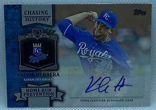 2013 Topps Baseball KELVIN HERRERA * CHASING HISTORY * AUTOGRAPH * ROYALS *