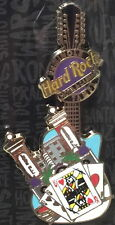 Hard Rock Hotel TAMPA 2016 City Guitar w/Cards, Chips & Skyline Icons PIN #91504
