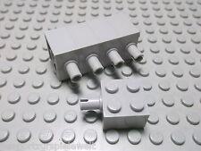 Lego 5 Steine 2x2 althellgrau mit Pin  4730  Set 6940 5550 6926 6957