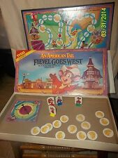 An American Tail Fievel Goes West Board Game 1991 Tyco