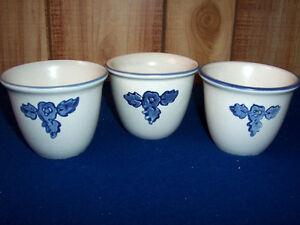 Vintage Pfaltzgraff Yorktowne Set of 3 Custard Cups 1967 HTF USA