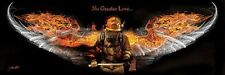 NO GREATER LOVE FIREMAN PRINT JASON BULLARD protect USA firefighter fire poster