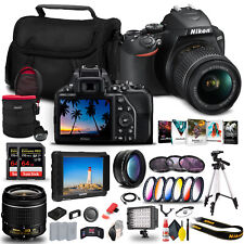 Nikon D3500 DSLR Camera with 18-55mm Lens (1590) + 4K Monitor + 2 x 64GB