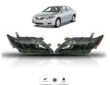 For Toyota Camry 2007 2008 2009 Front Headlights Set Black Housing Left & Right
