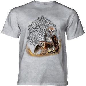 Mountain Adult T-shirt Celtic Owl Magic