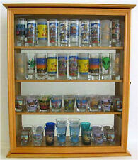 40 Shooter Tall Shot Glass Display Case Wall Cabinet with Glass Door, SC10-OA