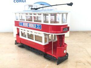 CORGI Classic Commercials CLOSED TOP TRAM LONDON Boxed Diecast Model Toy No98513