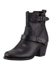 Rag & Bone Harper Boots Black Leather Ankle 38.5 8.5 Booties
