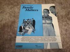 FAMILY MATTERS 1991 Emmy ad Jaleel White as Steve Urkel, Reginald VelJohnson
