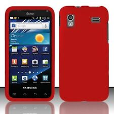 Hard Rubberized Case for Samsung Captivate Glide i927 - Red