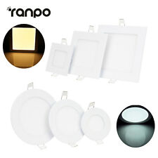 Dimmable Recessed LED Ceiling Panel Light 6W 9W 12W 15W 18W 21W Downlight Lamps