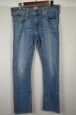 True Religion Brand Jeans Ricky Relaxed Straight Denim Men's Size 35 x 33 Actual