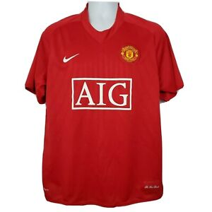 Manchester United Cristiano Ronaldo Nike Fit Dry Jersey Size L Red Soccer 2007