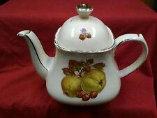 14 Vintage Sadler Teapot Gold Trim Fruit Pattern Hand Painted England