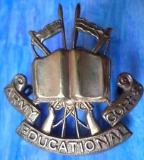 Badge- Army Educational Corps Cap Badge (Org, BRASS*) 2 Lugs