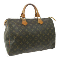 LOUIS VUITTON SPEEDY 35 HAND BAG MONOGRAM CANVAS LEATHER VI863 M41524 32904