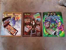3 BALLY SCARED STIFF TOTAN CIRCUS VOLTAIRE PINBALL MACHINE BROCHURE  FLYERS