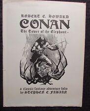 1977 CONAN Tower Of The Elephant Portfolio by Stephen Fabian 9 Plates NM #561
