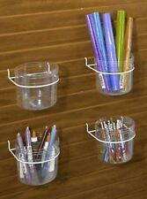For Sale 4 Single Clear Impulse Jar Slatwall/Pegboard Display Rack (White)