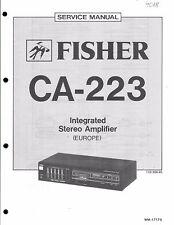 Fisher Service Manual für CA- 223 / R